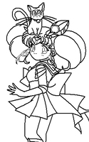Rini Diana Coloring Page by ParamourPhoenix