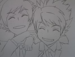 fred and george  - Ouran style by naosasukex
