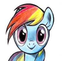 Rainbow Dash by zdrer456