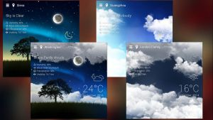 Realistic Weather HD for xwidget by jimking
