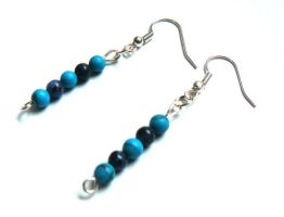 Lapis lazuli and blue howlite earrings by WelshDragonWare