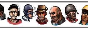 Team Fortress 2 Classes by Simicka