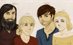 Hofferson-O'Malley family by halfnote