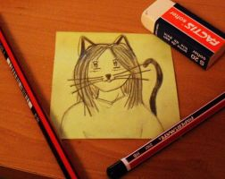 Post-it catgirl by Jas656