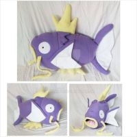 Custom Purple Magikarp Plush/Pillow by Aleeart7