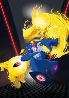 Mega Man VS Yellow Devil by arthelius