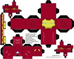 Iron Man Mark VI Cubeecraft by topduelist