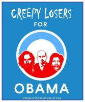 Creep Losers for Obama by RedTusker