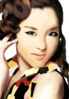 Sandara park digital painting by PropaArt