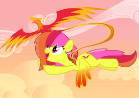 Mlp : Phoenix Melody and her phoenix by SoulRainbow