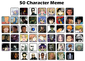 50 Character's Meme by Luckyeater