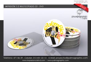 Label Impresion Multicopiado Cd Dvd - Colombia Tat by PALMAGRAPHIC