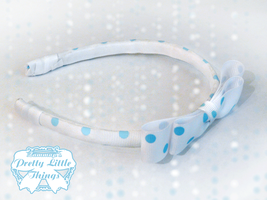 Head Band Polks dot Blue by zammap