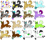 Wolf Adoptable Batch CLOSED by Lionheart1o1
