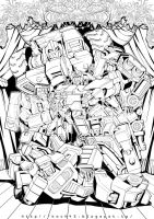 Poster Ink, Prowl and Constructicons (20150327) by koch43