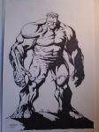 The Hulk inked by dogsoldierr