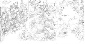 Godzilla Rumble Sketch by artrobot9000