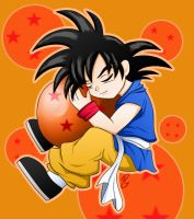 :Goku and weird Ball: Shu Chan by xShu-Chan