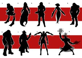 Character Silhouette set 2 by digital-clown