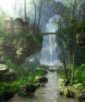 Early Spring Ravine by curious3d