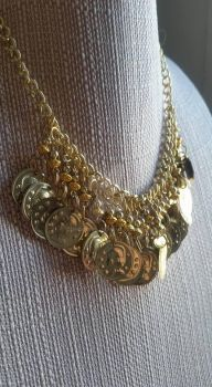 Gold Coin Necklace by dnort709