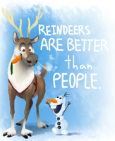 But people smell better than reindeers by Bonday