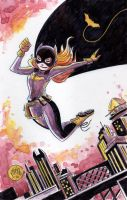 Watercolor: Batgirl of Burnside by mikemaihack