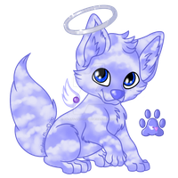Angel Wolf Pup Adopt - Sold! by Stormweaver-Arts