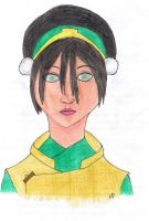Older Toph humanised by SvalaW