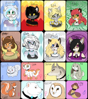Elemental felines by snooziewoo