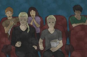 Malfoys in the cinema by HitoriMaron