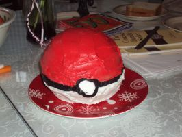 Pokeball Cake by JenJenMar
