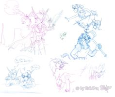 WoW sketches 2007 by RukiFox