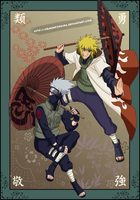 Umbrella Kakashi and Minato by DemonFoxKira