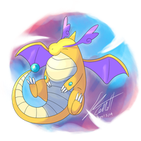 Mega Dragonite A by Shutwig