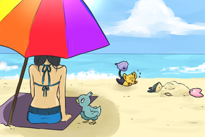PR : beach day by Ruueon