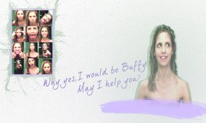 Buffy wallpaper by glittersprite