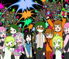 Vocaloid party by barasuishou-lover