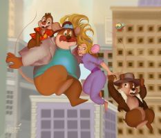Chip 'N' Dale Rescue Rangers by Nikitina-Polina