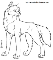 Dog lineart 7 by ArcticHuskie
