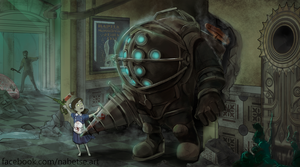 Bioshock Big Daddy by EstebanRiveros