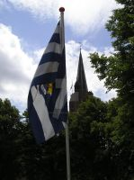 Flag and church by Deathly-dream