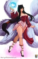 Ahri League of Legends by Kyoffie12