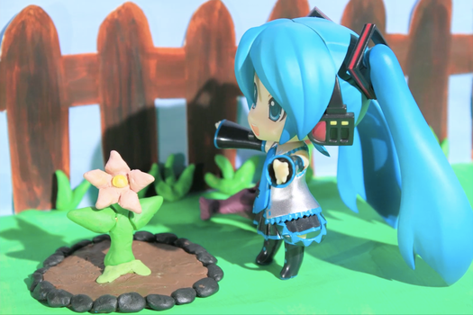 It's blooming [Nendoroid Miku Stop Motion] by xiaoshan-angel