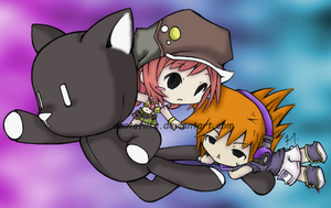 "Shiki, Neku, and ""Pig"" Color by Entoxica"