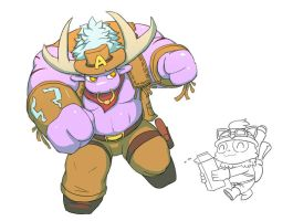 Alistar and Teemo by Reislet