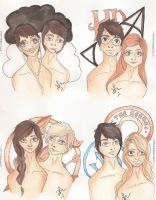 Couples of The Literature by VianaDrawings