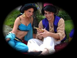 Jasmine and Aladdin by swanny1