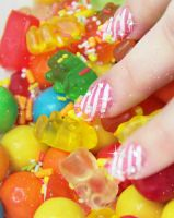 Candy nails 3 by Ceryse