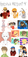 HOMESTUCK ART/SKETCH DUMP 4 by LaWeyD